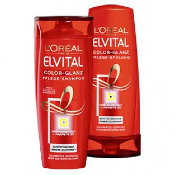 6 x L'Oréal Elvital Shampoo oder Spülung für effektive 8,34€