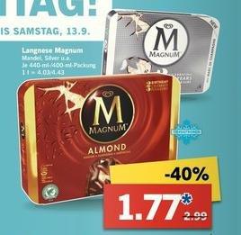 Lidl - Magnum Eis 4er Packung für 1.77