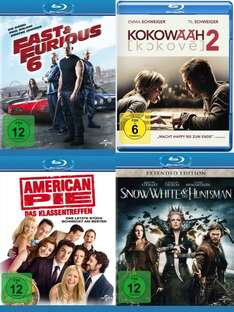 Blu-ray - Fast&Furious 6 / Snow White & the Huntsman / Kokowääh 2 / American Pie - Das Klassentreffen ab je €4,92 [@Saturn.de]