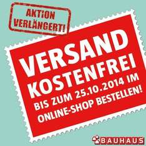 Kostenfreier Versand bei Bauhaus bis 27.09.2014