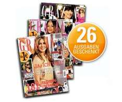 26 Ausgaben der Grazia kostenlos für Webmiles Kunden