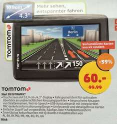 TomTom Start 20 Europe Traffic Navigationssystem 60€ [lokal: Penny Gelsenkirchen]