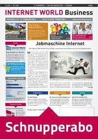INTERNET WORLD Business Probeabo über 4 Ausgaben! Auchtung: Abo muss nach erhalt der 4. Ausgabe schriftlich gekündigt werden