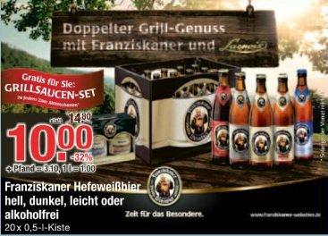 [lokal München/Oberbayern/Schwaben] V-Markt Franziskaner Hefeweißbier Kasten