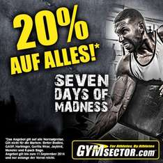 20% auf (fast) alles bei Gymsector