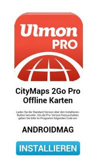 City Maps 2Go Pro kostenlos (Android)