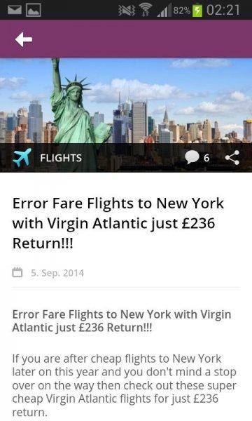 Error-Fare London New York London