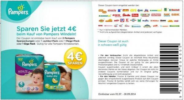 (dm offline bundesweit) pampers für 0,12€ das stück