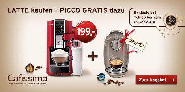 Cafissimo LATTE Argento 199€ + Cafissimo PICCO gratis!