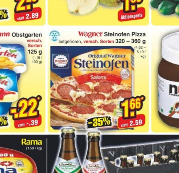 Wagner Steinofen Pizza 1,66 Netto Bundesweit vom 8. bis 13.09.