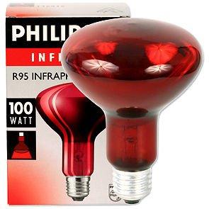 Philips Infraphil Glühbirne Infrarot Leuchtmittel 100W rot