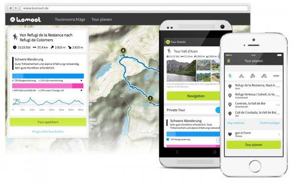 1 x Regionen Paket kostenlos für Fahrrad-/Outdoor-App Komoot kostenlos