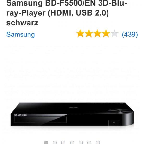 (lokal) Samsung 3D BlueRay Player BD-F5500