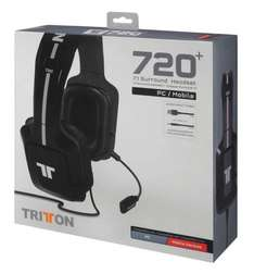Trit­ton 720+ 7.1 Sur­round Head­set Schwarz für 92,24 € @Amazon.fr