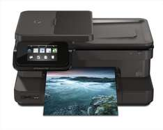 HP Pho­tos­mart 7520 e-All-in-One Tin­ten­strahl Mul­ti­funk­ti­ons­dru­cker (A4, Dru­cker, Scan­ner, Kopie­rer, Wlan, USB, 9600x2400) für 104,84 € @Amazon.it
