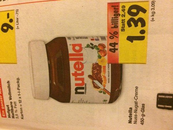 [Lokal Neckarsulm] Nutella 450g 1,39€ (3,09€/kg) / Haribo 0,49€ / Jack Daniels 13,99€ + bis zu 10€ Gutschein an der Tankstelle u.v.m