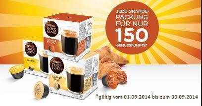 Im September die Dolce Gusto Grande-Sorten im Dolce Gusto Shop für 150 Punkte