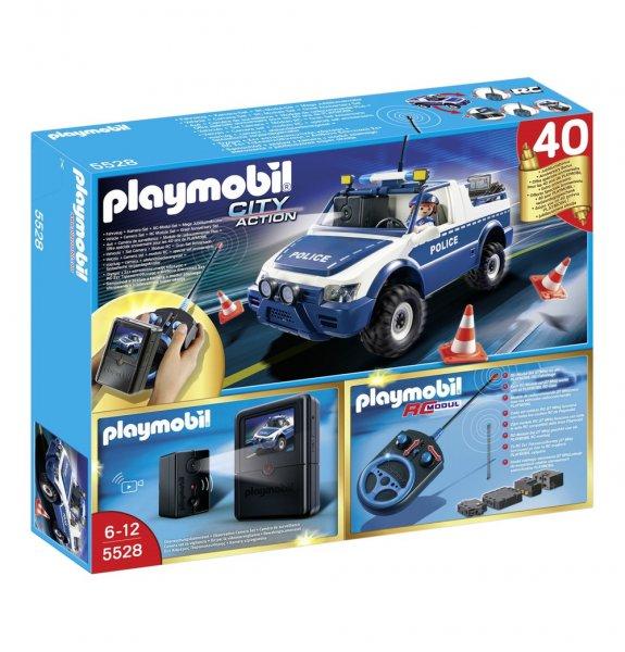 PLAYMOBIL® RC-Polizeiauto mit Kamera-Set 5528 + RC-Modul-Set 4856 und Kamera-Set 4879