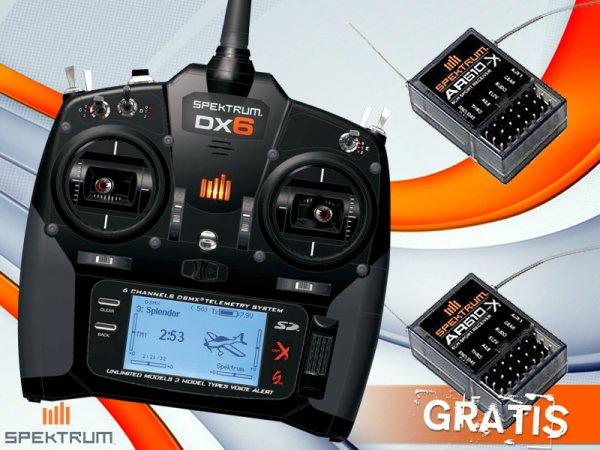 Spektrum DX6 Super V2 + zwei AR610 Empfänger