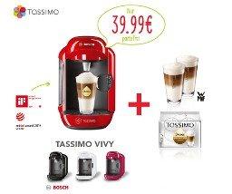 TASSIMO VIVY T12  Bosch mit 2 Gläser und einen Paket Kaffee rund 20% günstiger