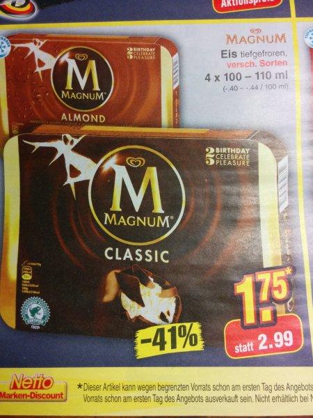 Magnum Eis - verschiedene Sorten - Netto ohne WauWau - 13.9