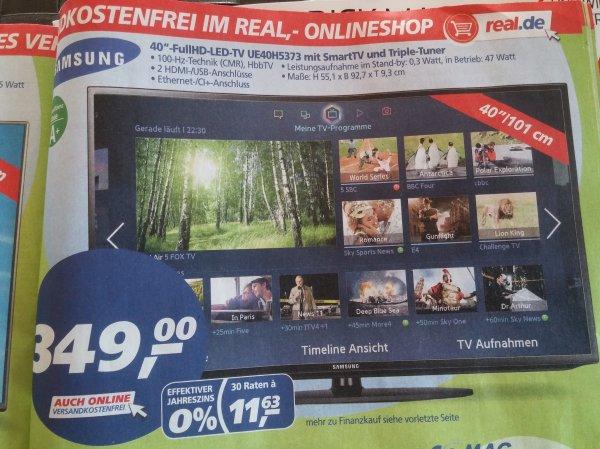 Samsung 40 full Hd LED TV UE40H5373 smart TV triple Tuner @ real für 349€ mit Payback noch billiger