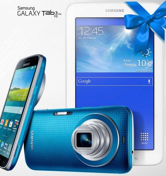 Galaxy K zoom + Tab 3 7.0 Lite Wi-Fi ab 350€ (schwarz)