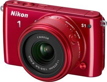 NIKON 1 S 1 rot+11-27,5mm für 169€ @Saturn.de
