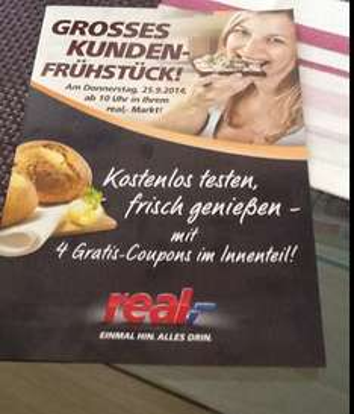 Kundenfrühstück im Real 25.09.2014
