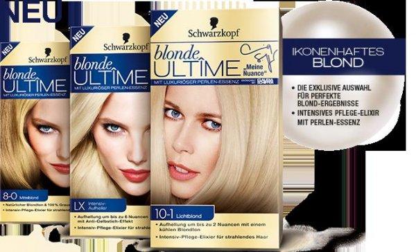 [ dm ] Schwarzkopf Ultime Blonde Haarfarben + Aufheller  -0,05 € Gewinn