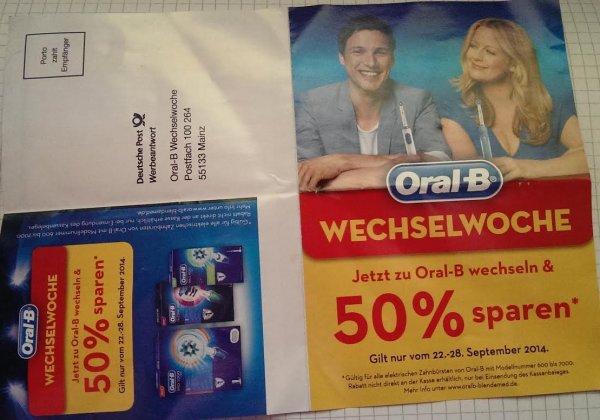 ! Insider Tipp ! Oral-B Zahnbürste - 50 % des Kaufpreises sparen - 22 - 28.09.2014
