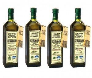 Groupon Lakudia - billigster Preis 5x 1 l oder 10x 0,5 l Lakudia Olivenöl für 26,95 € (bis 5,39€/L) Simbuy