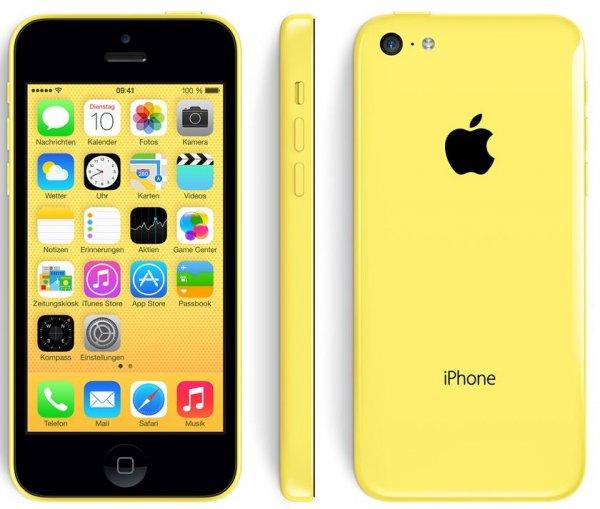 Update: wieder verfügbar [Logitel Ebay] iPhone 5c gelb 16 Gb mit base pur für ings. 345€