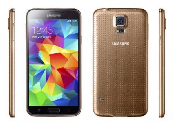 Galaxy S5 Dual Sim GOLD + 8GB Speicherkarte + Displayfolien