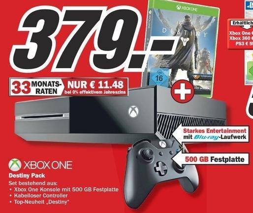 [Lokal Wiesbaden] Mediamarkt: XBOX One ohne Kinect + Destiny