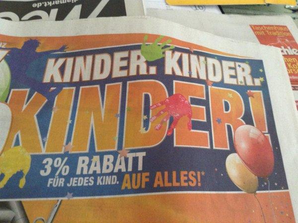 [offline, lokal Bayern?] 3% Rabatt pro Kind bei Expert Technomarkt