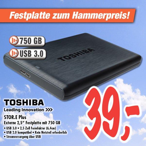 "lokal Deizisau: Toshiba Stor.e PLUS 750GB USB 3.0 externe 2,5"" Festplatte"