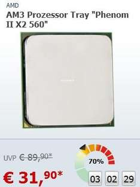 "AM3 Prozessor Tray ""Phenom II X2 560"" Black Edition @ ZackZack"