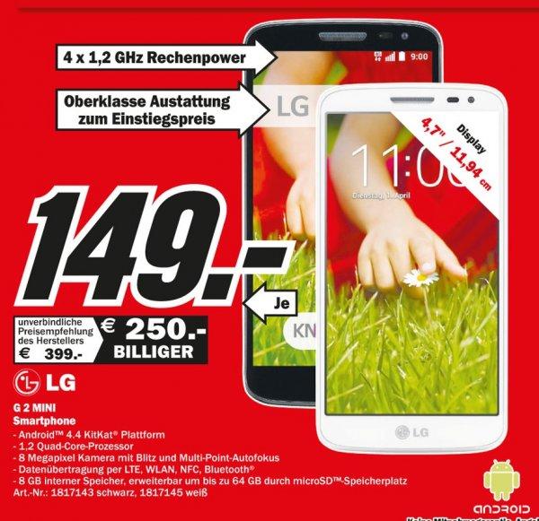 LG G2 Mini Weiß für 149€ Lokal [Mediamarkt Weiterstadt]