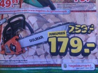 Dolmar Benzin-Kettensäge PS-32c TLC/40cm für 179,00€