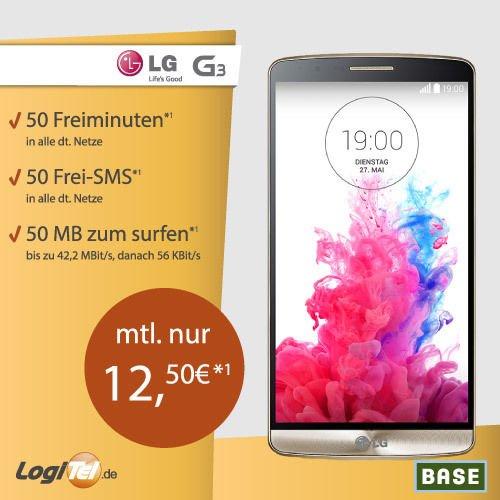 [logitel.de] LG G3 (2GB RAM Version) Schubladenvertrag für 12,50 mtl