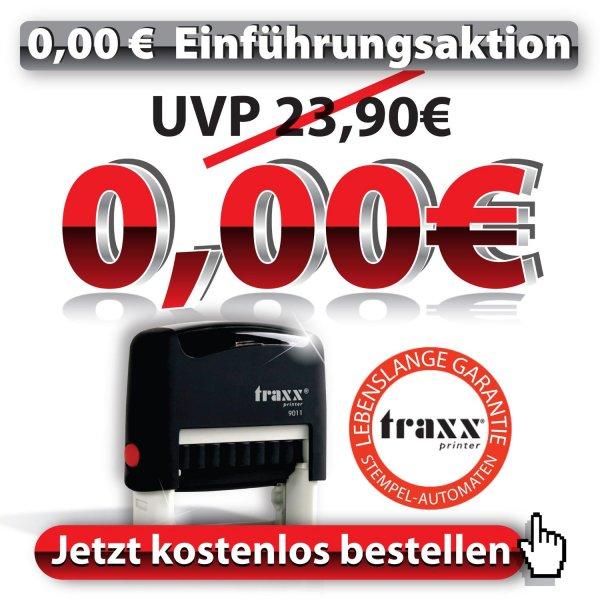 TRAXX Marken-Stempel für 3,99€ inkl. Versand  Amazon Marketplace