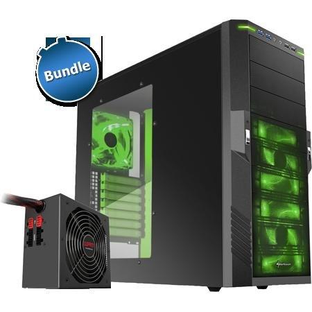 """Sharkoon Bundle: Netzteil """"WPM500 V2"""" + ATX-Gehäuse """"T9 Value green edition"""" für 79,85€"""