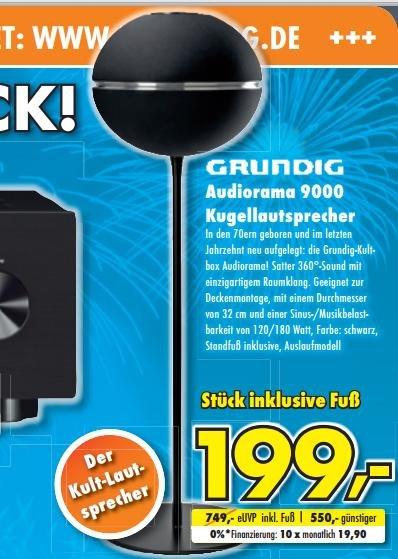 Grundig Audiorama 9000 Kugelbox schwarz (1 Stück) incl. Standfuß für 199,00 Euro Statt 750,00 Euro UVP