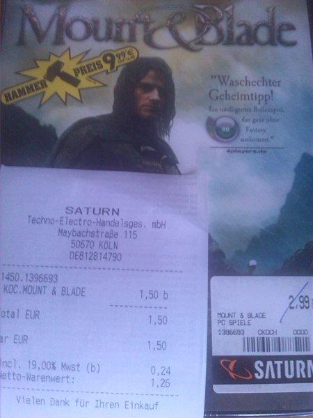 [Lokal Saturn Köln Hansaring] Mount & Blade (retail) für 1,50€