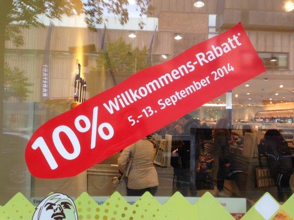 [LOKAL Berlin] 10% auf alles bei DM Müllerstr. neben Woolworth - nur noch bis 13.09.