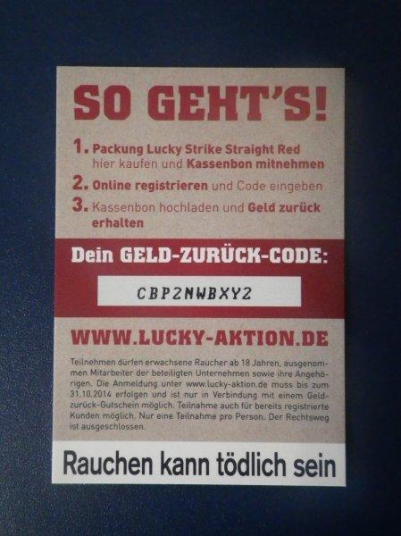 [Lokal? - Berlin] Lucky Strike Rot ohne Zusätze Geld zurück @Penny