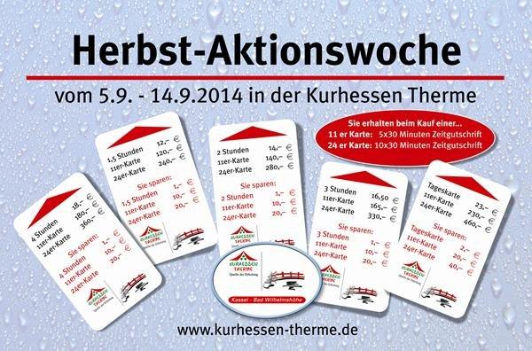 [Lokal] Kassel Therme: Messepreise bis zu 26% sparen beim Kauf von 24*2Std Karten