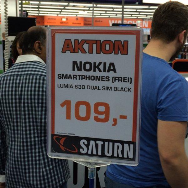 [Essen] Nokia Lumia 630 Black Dual SIM; 109€