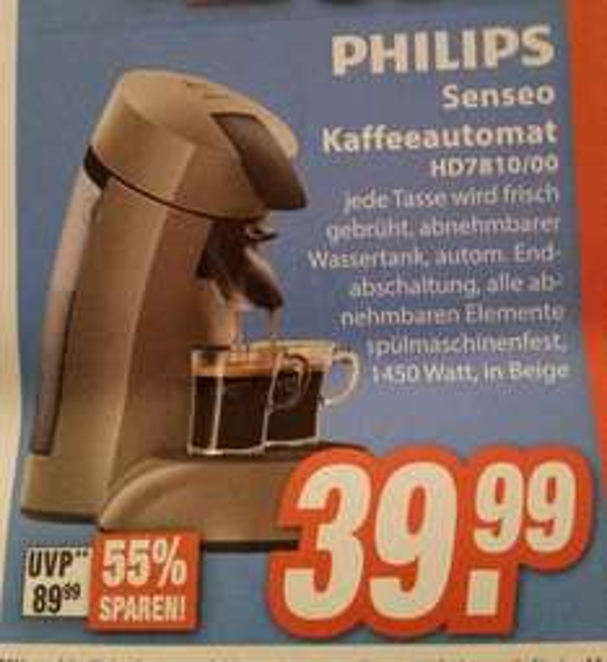 Lokal ?? Knallerpreis Senseo HD7810/00 beim Expert Bielefeld im Famila für 39.99 Euro.